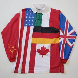 80s/90s Vintage Flags of the World Rugby Shirt